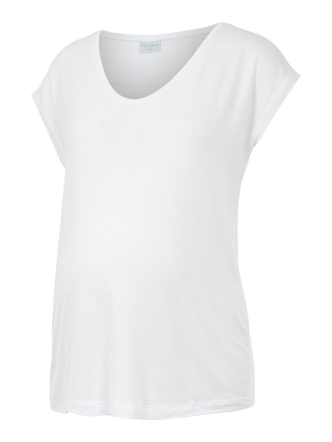PCMBILLO SOLID MATERNITY T-SHIRT, Bright White, large