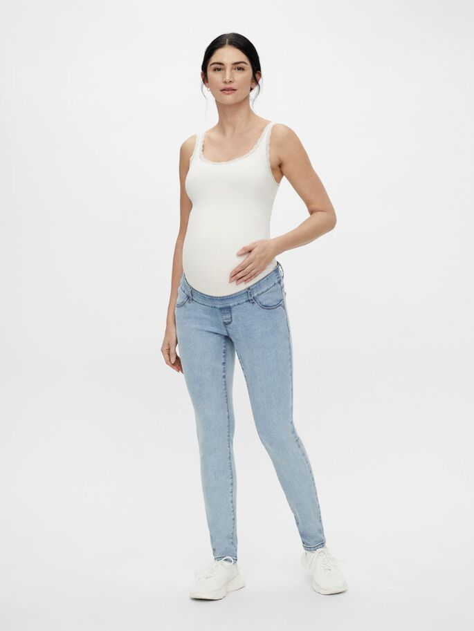 MLOMAHA SLIM FIT MATERNITY JEANS, Light Blue Denim, large