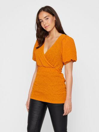 PUFF SLEEVED WRAP NURSING TOP