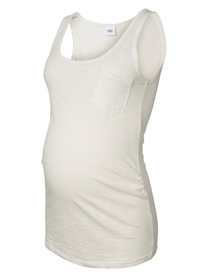JERSEY MATERNITY TOP, SLEEVELESS, Snow White, large