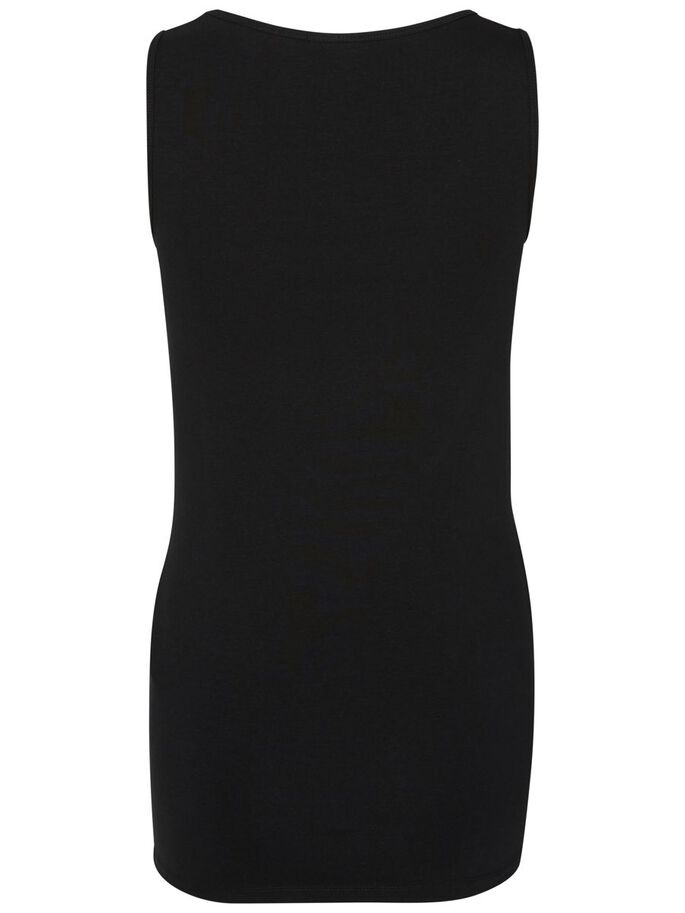 2-PACK MATERNITY TOP, SLEEVELESS, Black, large