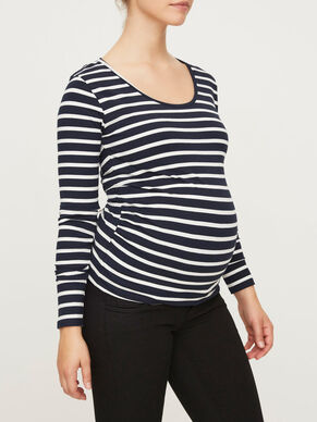JERSEY MATERNITY TOP, LONG SLEEVED