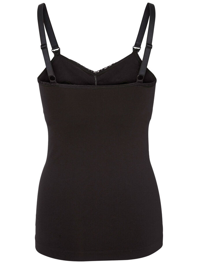 ELASTIC SINGLET, Black, large