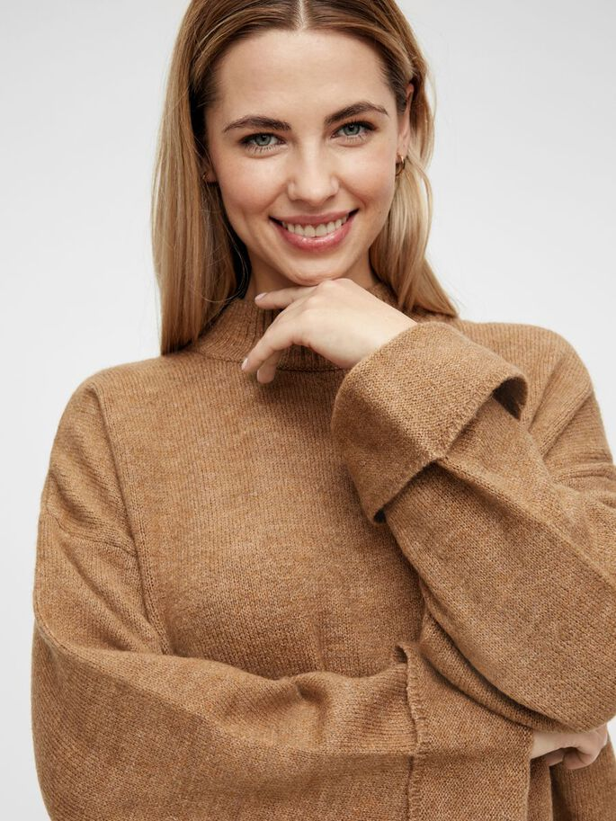 MLMERVE KNITTED MATERNITY PULLOVER, Indian Tan, large