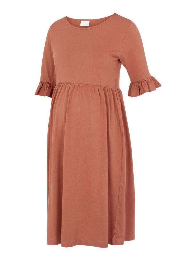 MLHAZEL MATERNITY DRESS, Copper Brown, large