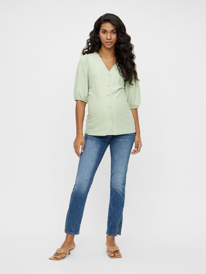 MLMONTANA 2-IN-1 MATERNITY TOP, Cameo Green, large