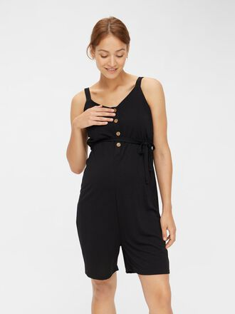 BUTTON FRONT MATERNITY PLAYSUIT