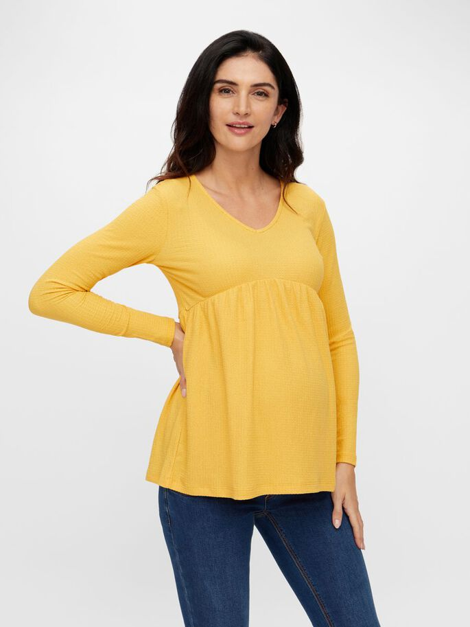 MLKAMILLE MATERNITY TOP, Gold Flame, large