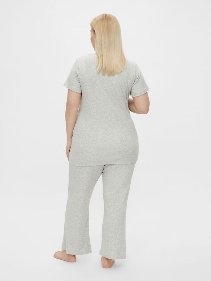 MLAMAJA PYJAMA 2-EN-1, Light Grey Melange, large