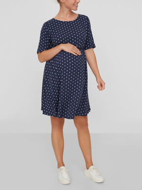 PATTERN DETAILED MATERNITY DRESS