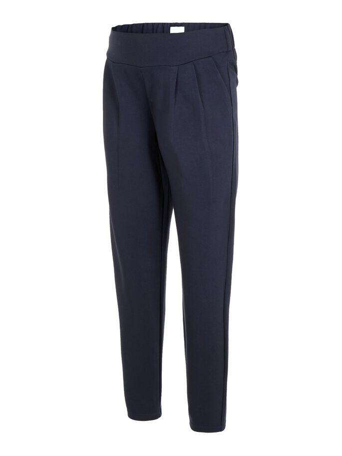 STRETCHABLE MATERNITY TROUSERS, Navy Blazer, large