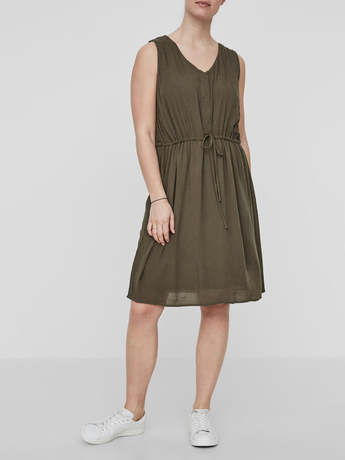 WOVEN NURSING DRESS, Ivy Green, large