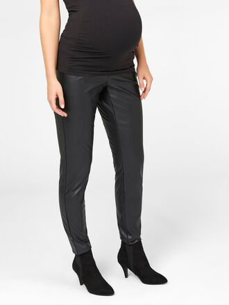 FAUX LEATHER MATERNITY TROUSERS