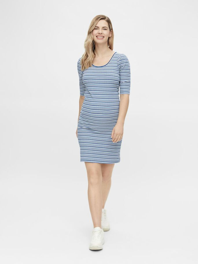 MLANNA MATERNITY MINI DRESS, Victoria Blue, large