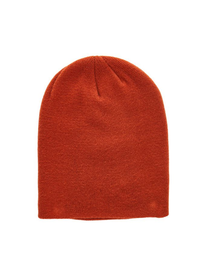 KNITTED SOLID BEANIE, Picante, large
