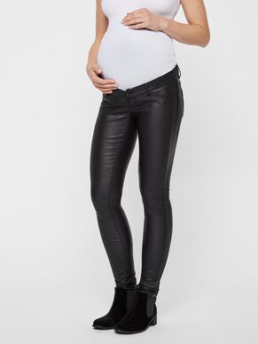 COATED MATERNITY JEANS, SLIM FIT