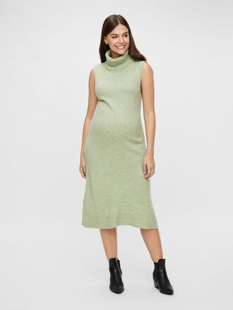 KNITTED HIGH NECK MATERNITY DRESS