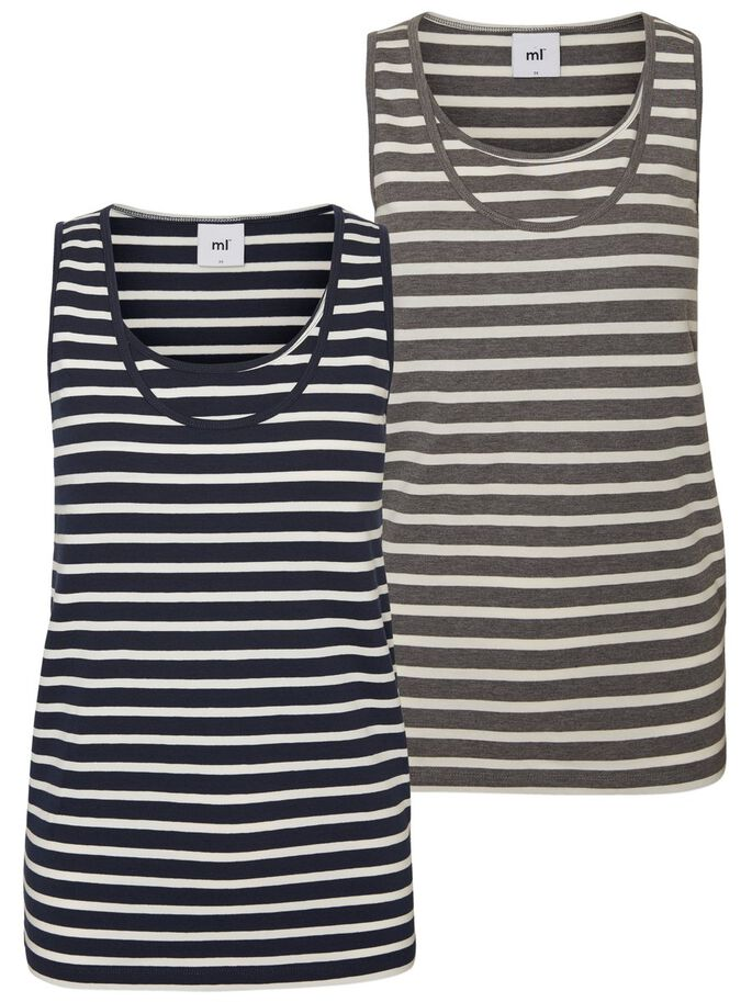2-PACK NURSING TOP, SLEEVELESS, Snow White, large