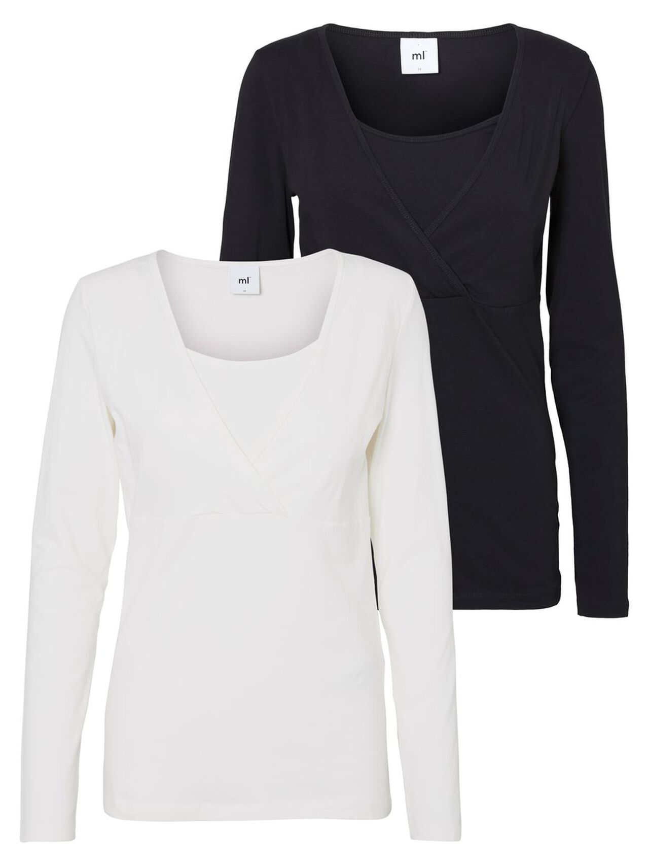 MAMA.LICIOUS 2-pack Nursing Top Dames Zwart