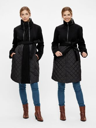 TIE-BELTED 2-IN-1 MATERNITY COAT