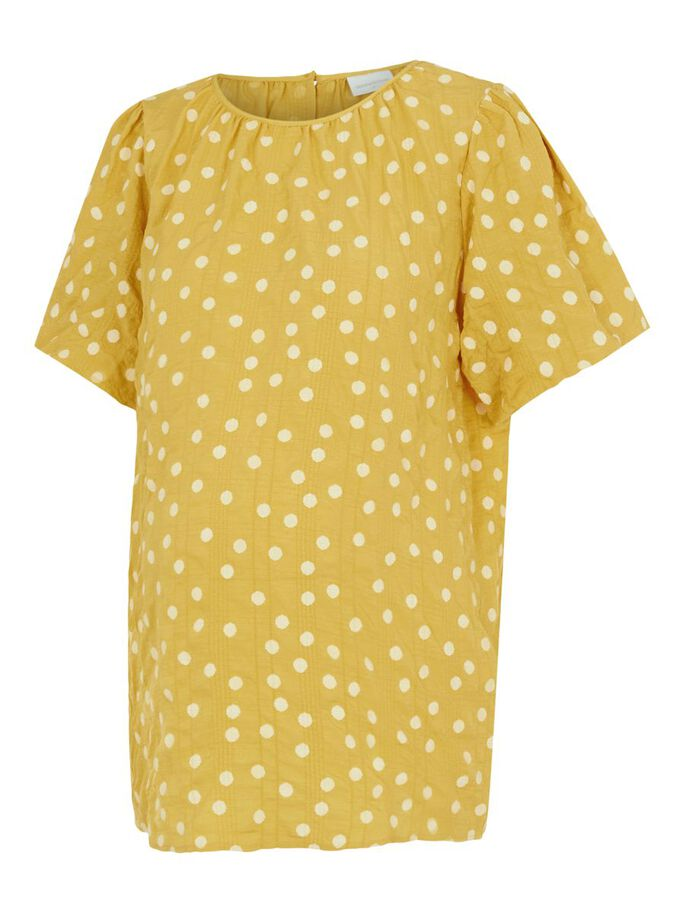 MLSUNVA SHORT SLEEVED MATERNITY TOP, Yolk Yellow, large