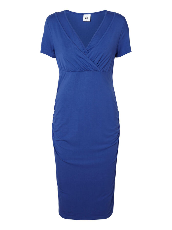 JERSEY NURSING DRESS, SHORT, Deep Ultramarine, large