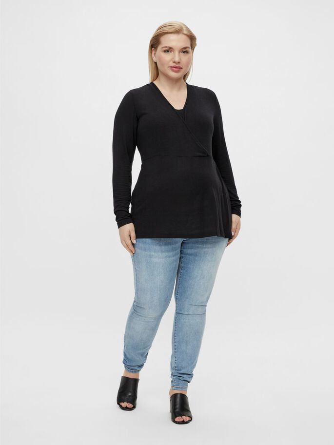 MLARTUR 2-IN-1 MATERNITY TOP, Black, large