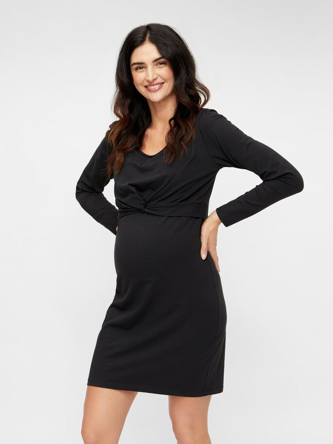 MLHELIA 2-IN-1 MATERNITY DRESS, Black, large
