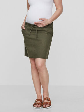 WOVEN MATERNITY SKIRT, SHORT