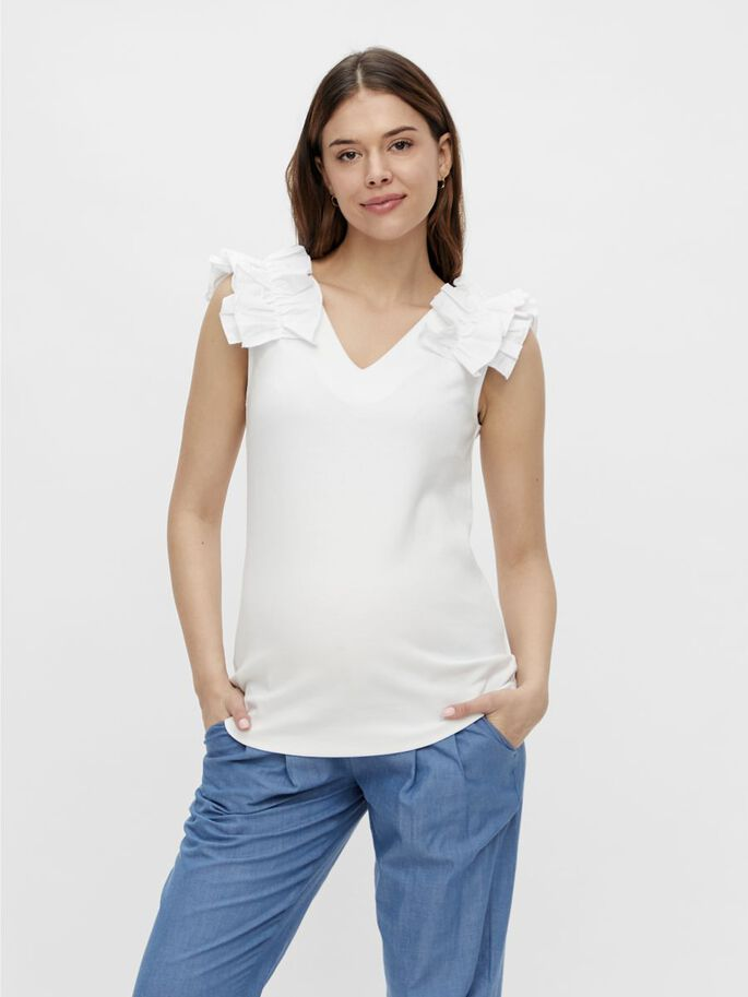 MLELISA MATERNITY TOP, Bright White, large