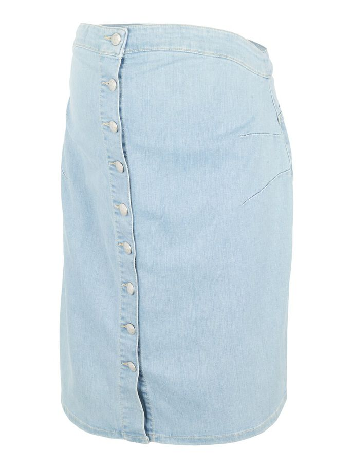 MLVILLA DENIM MATERNITY MIDI SKIRT, Light Blue Denim, large