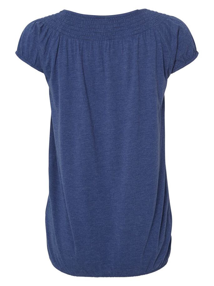 JERSEY MATERNITY TOP, SHORT SLEEVED, Twilight Blue, large