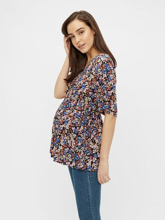MLLEVETTA FLORAL MATERNITY TOP