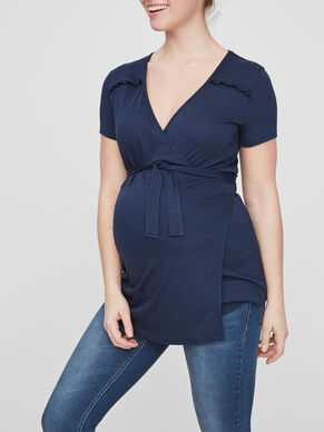RUFFLE DETAILED MATERNITY TOP