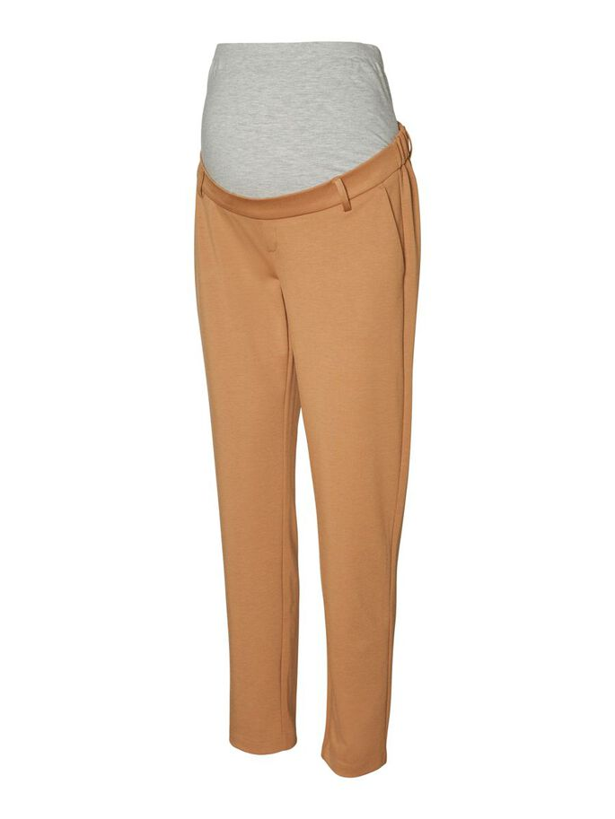 VMMLUCCALILITH MATERNITY TROUSERS, Tobacco Brown, large
