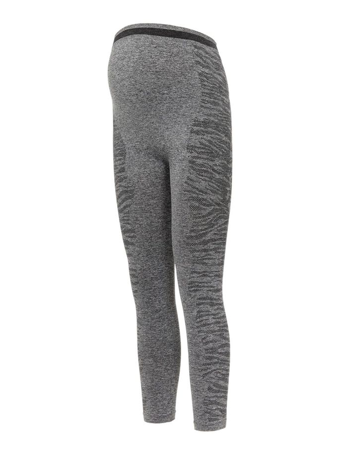 MLELISSHA MATERNITY LEGGINGS, Dark Grey Melange, large