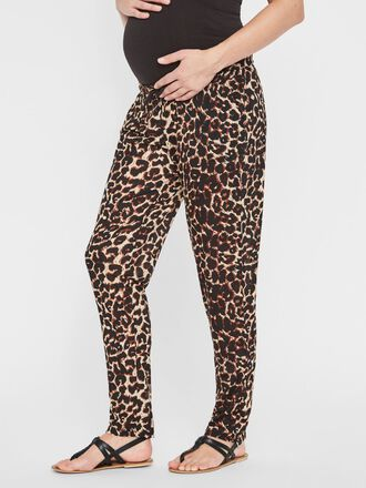 LEOPARD PRINTED MATERNITY TROUSERS