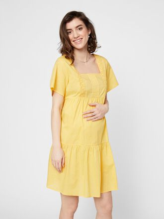 EMBROIDERY MATERNITY MINI DRESS