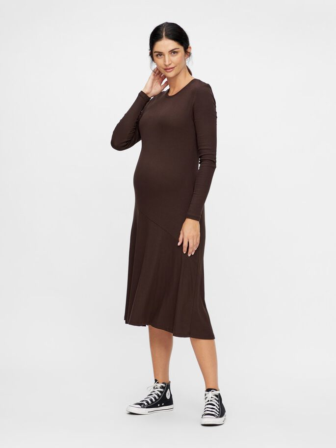 KNITTED BODYCON MATERNITY DRESS, Mole, large