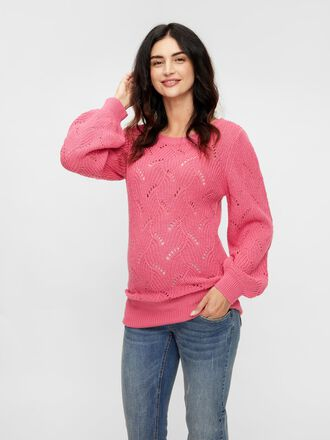 KNITTED VOLUME SLEEVE MATERNITY PULLOVER