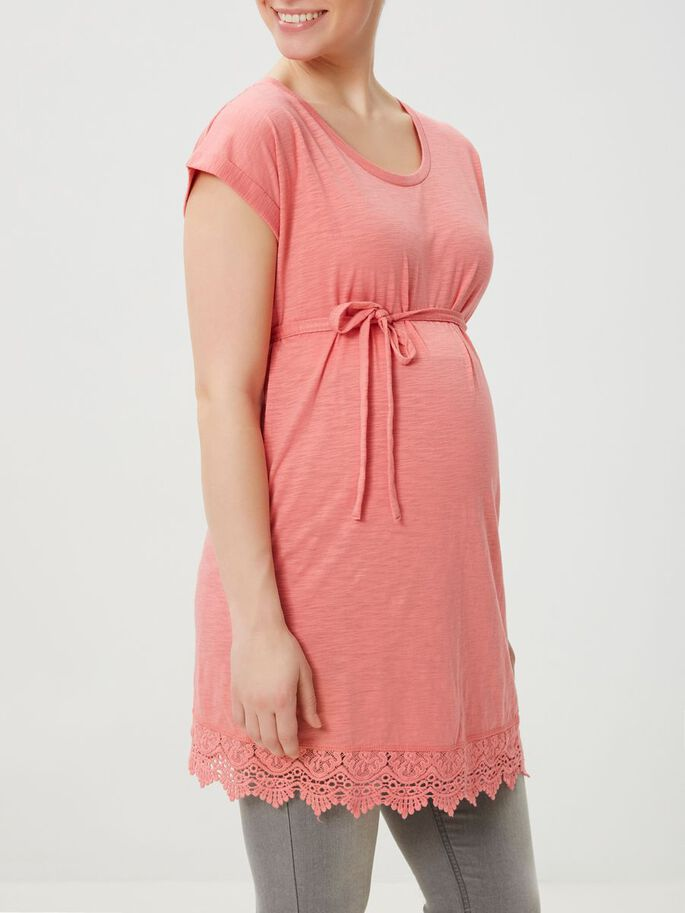 MLALETTA JERSEY MATERNITY TUNIC, Tea Rose, large