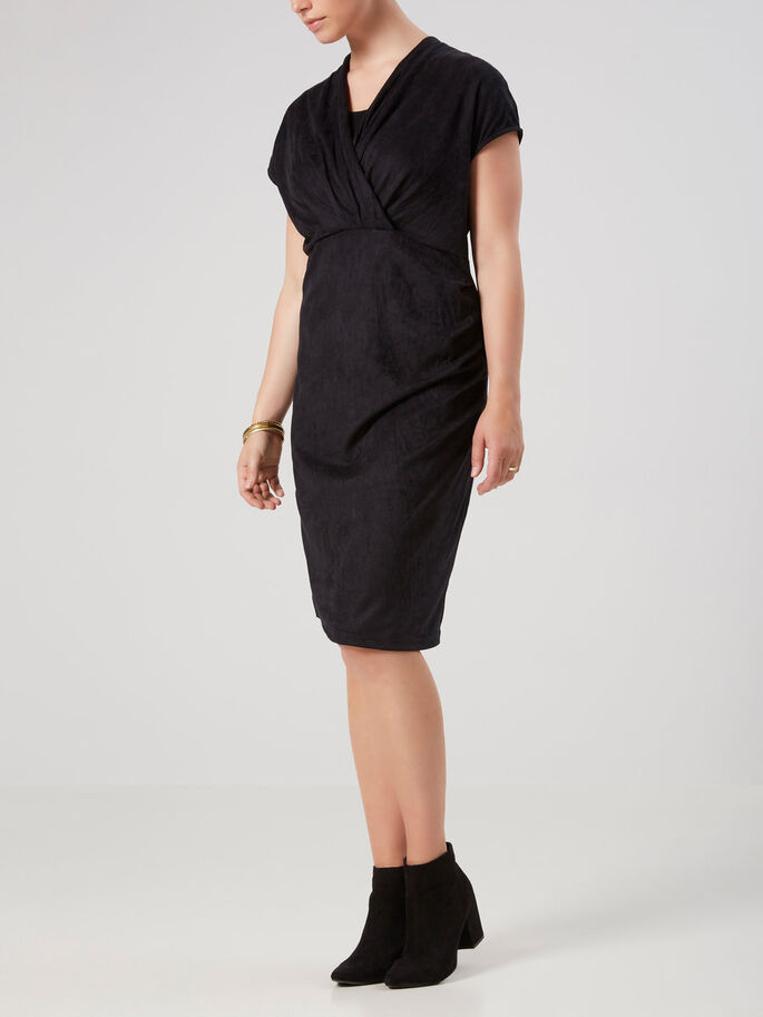 JERSEY NURSING DRESS, Black, large