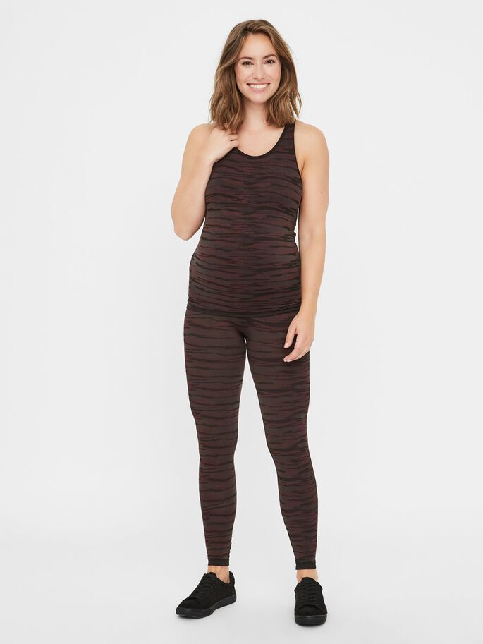 CAMOUFLAGE ACTIVE MATERNITY TIGHTS, Black, large
