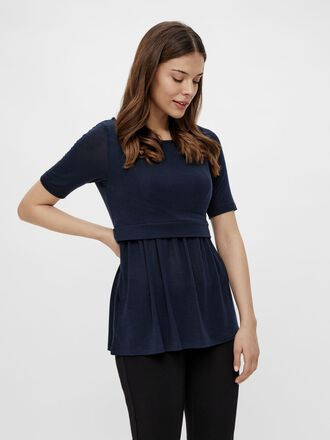 MLANABEL PEPLUM NURSING TOP