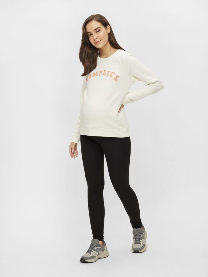 PCMLECILIE SWEAT-SHIRT DE GROSSESSE, Cloud Dancer, large