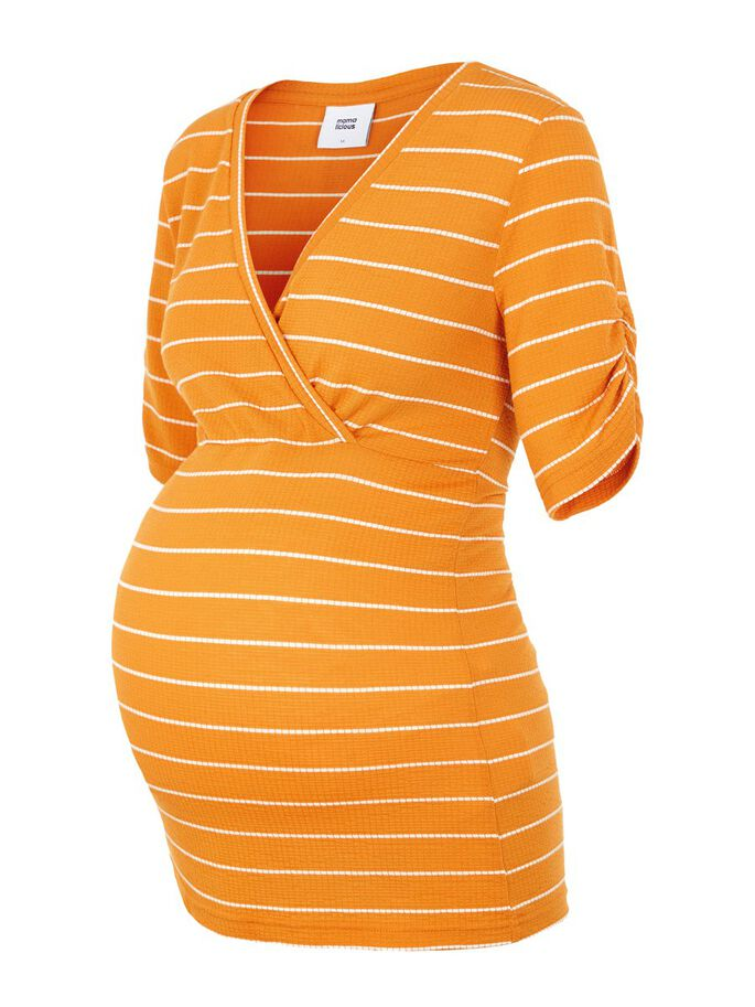 STRIPED MATERNITY TOP, Nugget, large