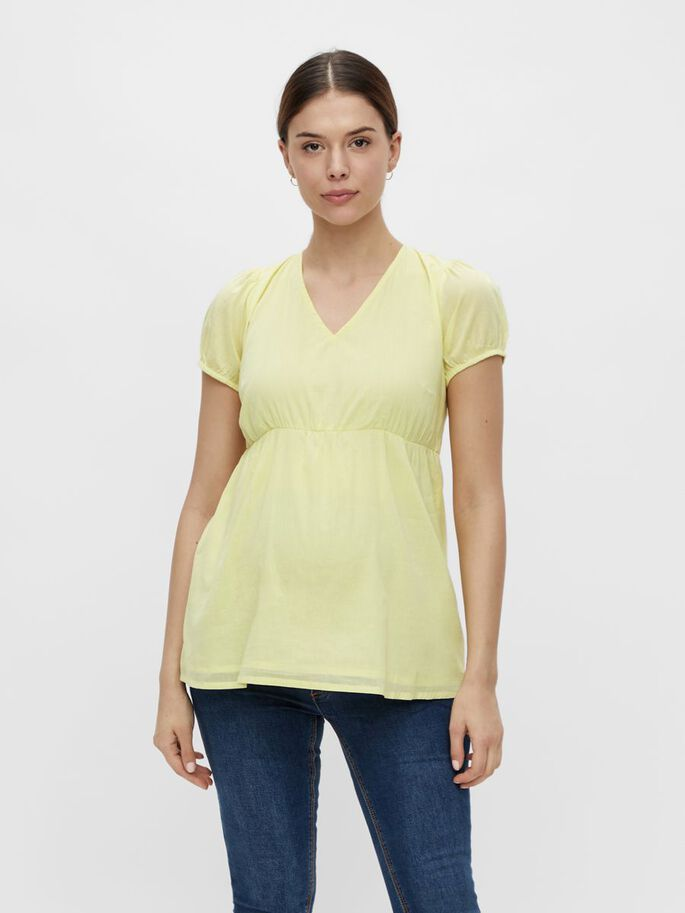 MLVIGGA MATERNITY TOP, Elfin Yellow, large