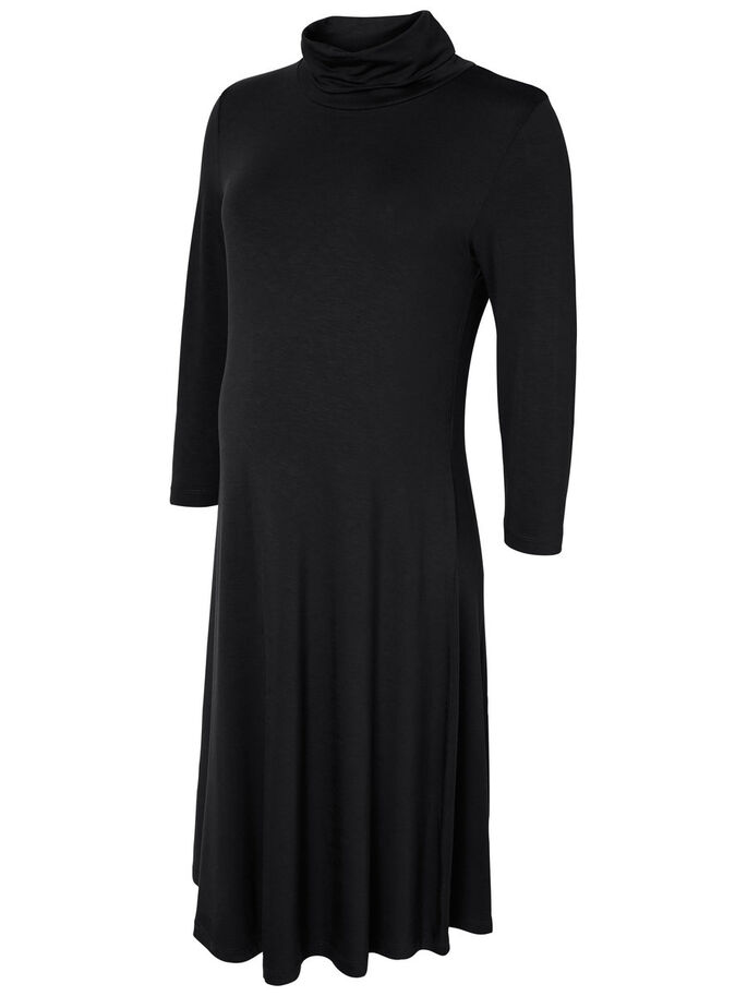 JERSEY MATERNITY DRESS, Black, large