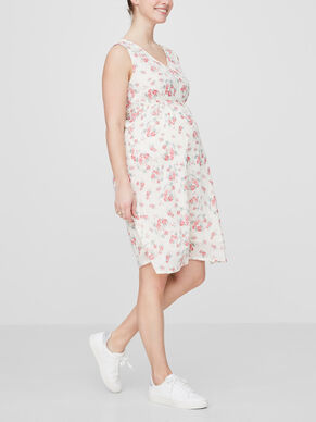 FLOWER PRINTED MATERNITY DRESS