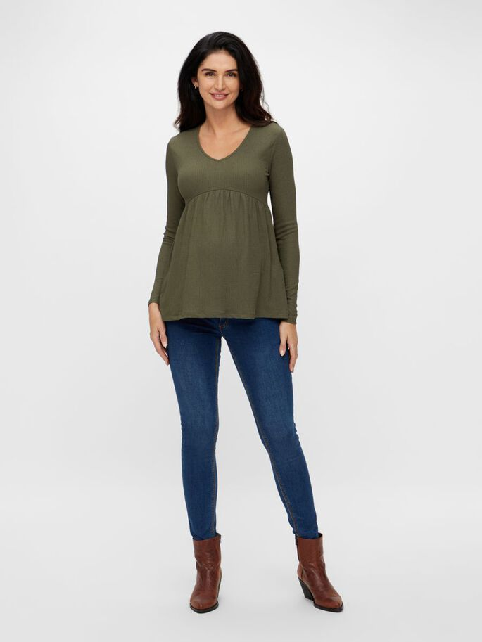 MLKAMILLE MATERNITY TOP, Frosty Green, large